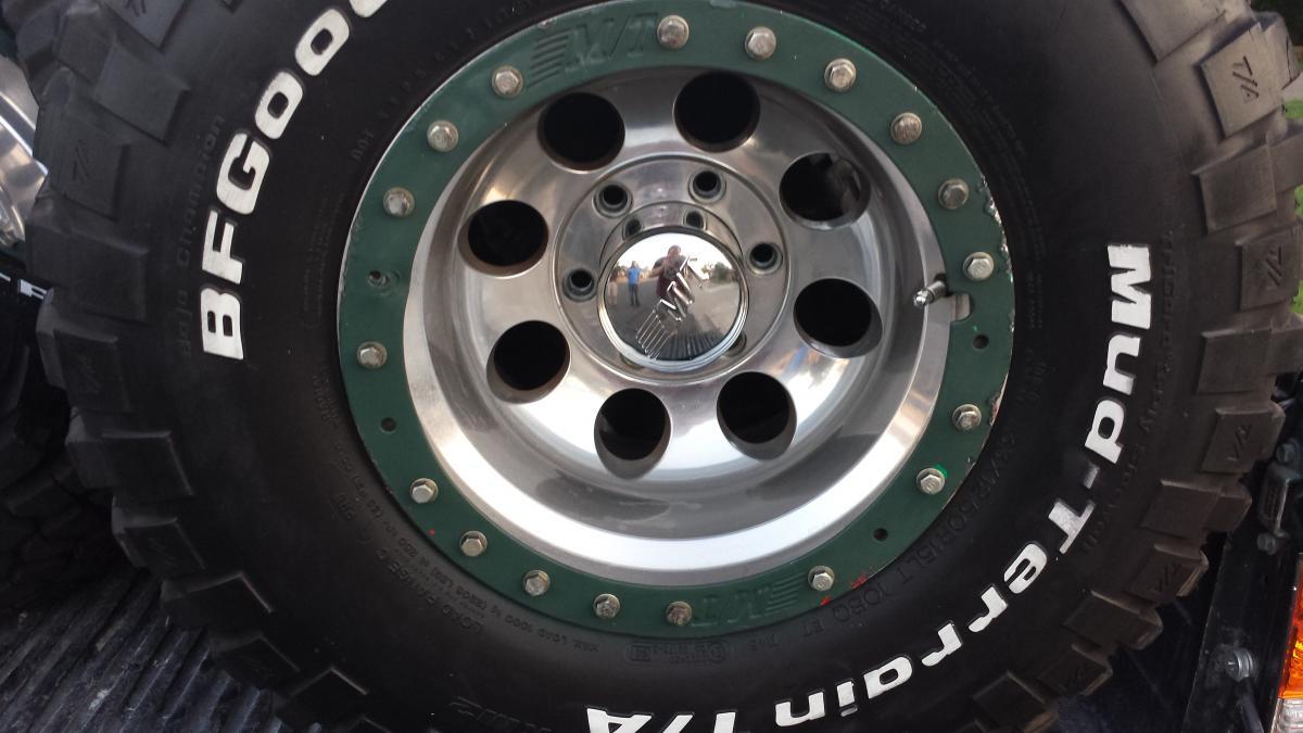 Tires 33X12 5X15 >> 4- 33X12.5X15 BF Goodrich Mud Terrain T/A KM2 tires on Mickey Thompson rims - Classified Ads ...