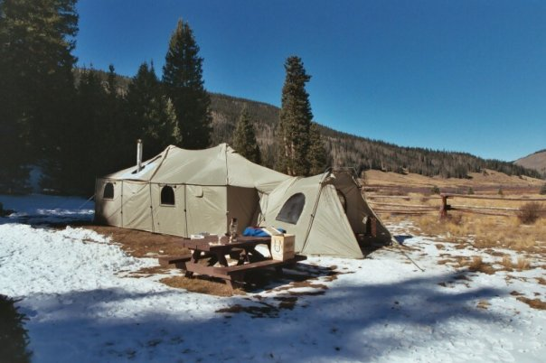 Cabelas 12x20 alaknak tent with vestibule for sale for Cheap wall tents for sale