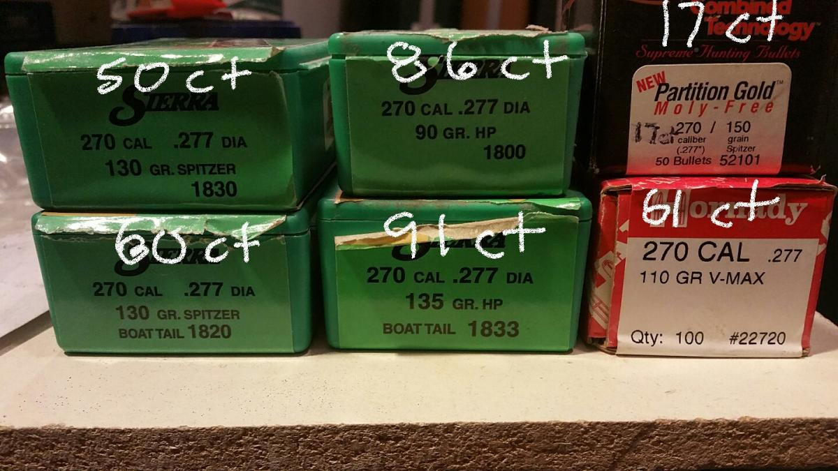 Some 270 cal Bullets - Classified Ads - CouesWhitetail com