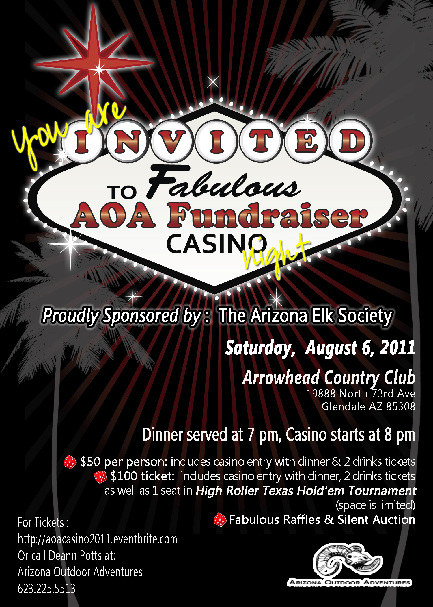 arizona outdoor adventures casino night fundraiser