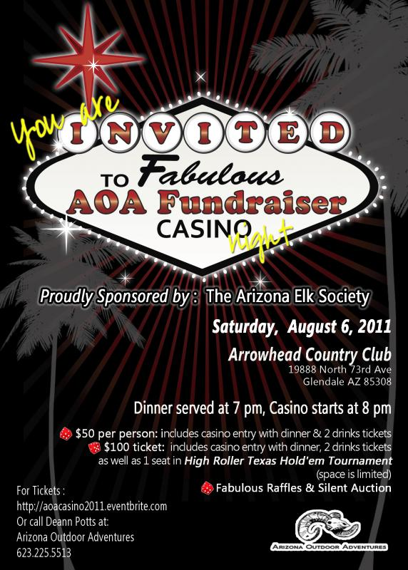 Arizona Outdoor Adventures Casino Night Fundraiser