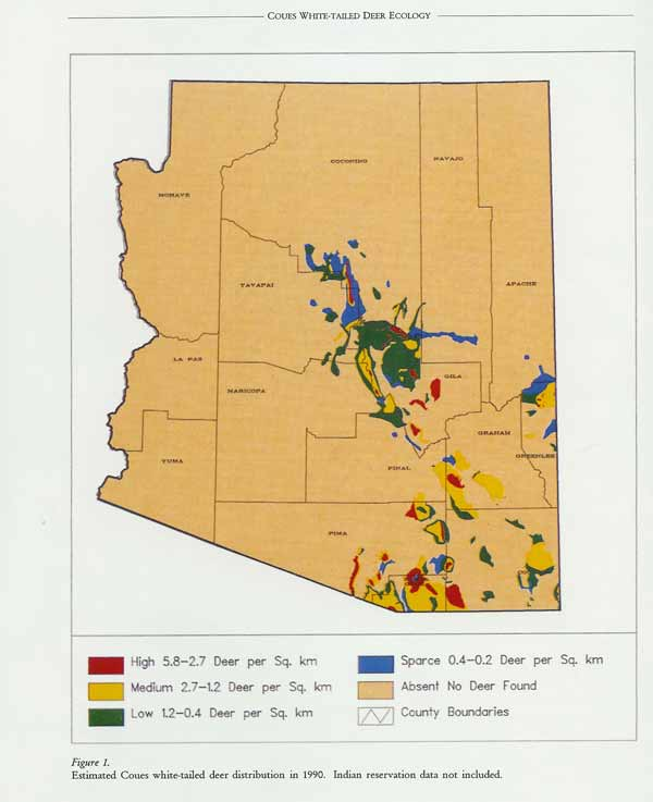 Map Of Arizona Hunting Units.How Accurate Is This Map Coues Deer Hunting In Arizona