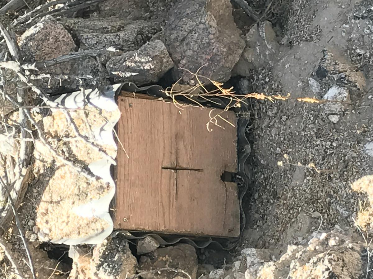 Wood Box Half Buried The Campfire Coueswhitetail Com