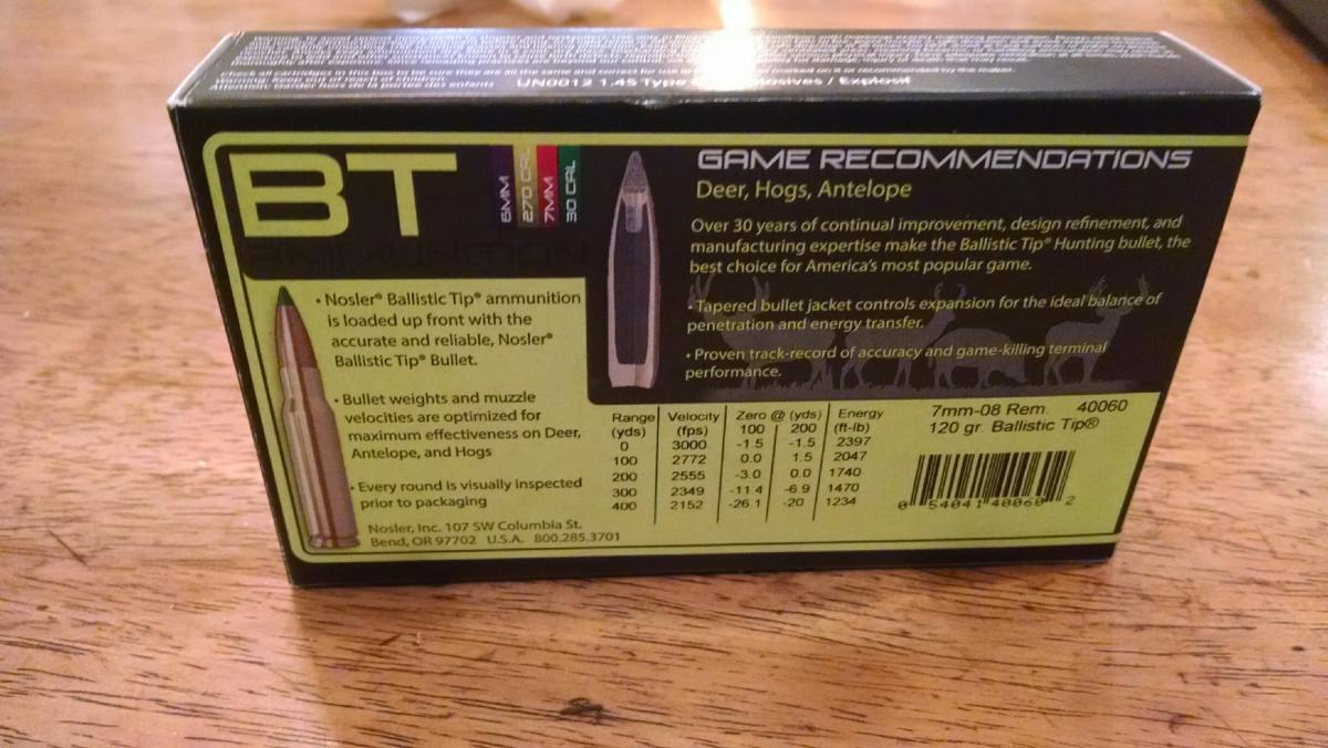Nosler 7-08 and 180 gr 10 mm - Classified Ads