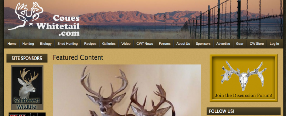 the new CouesWhitetail.com