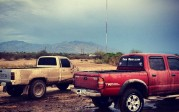 red tacoma in the mud july 24 2012