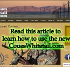 How to use CouesWhitetail.com