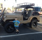 Bryant Ensman's  sticker on his 69 jeep and his grandson, Hayden