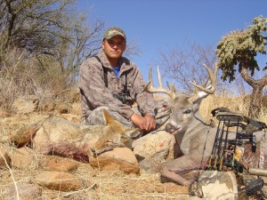 Doing  my coyote share after 105 coues