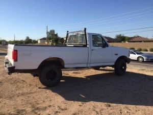 '97 f-250. Has approx. 142,000 miles on her. Good running truck just upgraded to a crew cab. 4x4 works great. Truck is a standard. Call or text me for more details at (928)245-4011 Looking to get 4,000 for the pickup or trade towards used ranger.